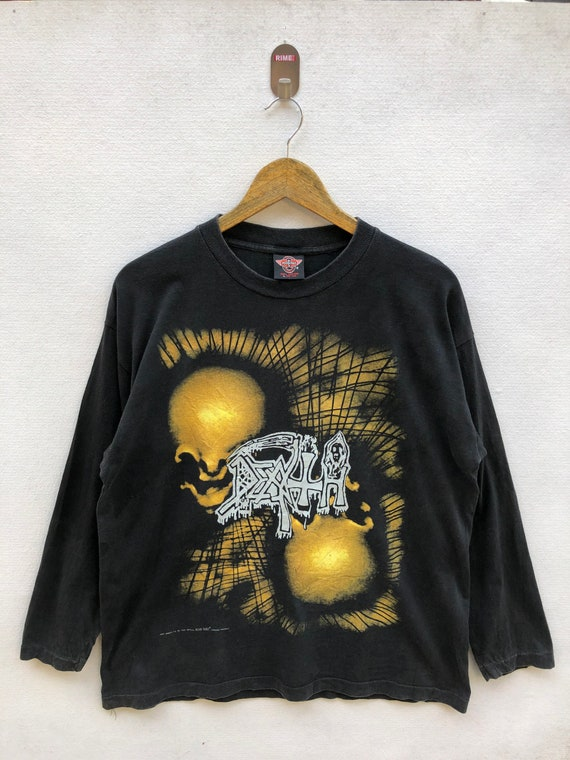 Vintage 90s Death Metal Band Long Sleeve Shirt L S