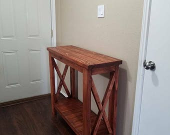 Wooden entry table