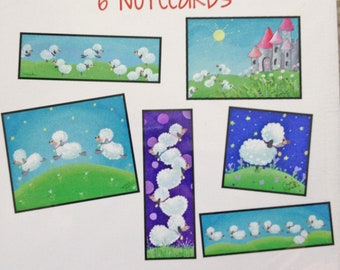 Cute Sheep Illustration - Note cards - Inspiration and Happiness - Blank Stationary