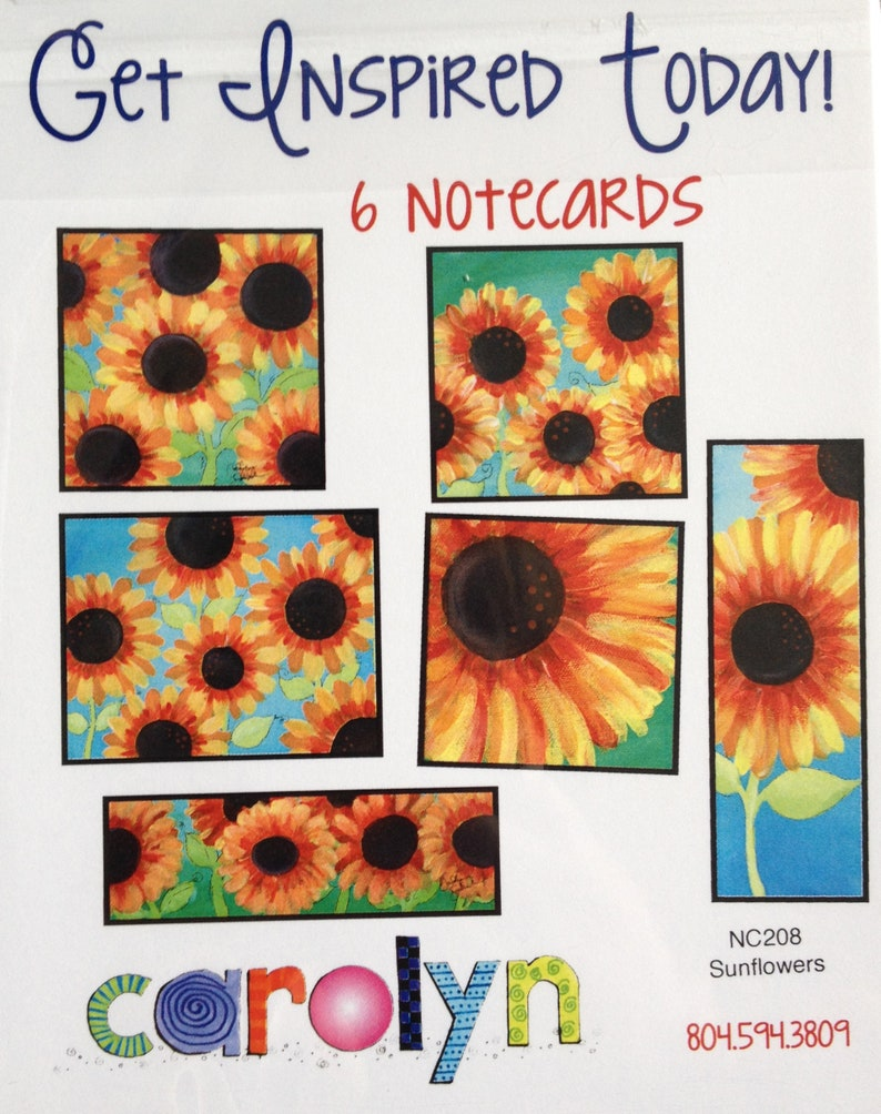 Sunflower Illustration  Note cards  Inspiration and image 0
