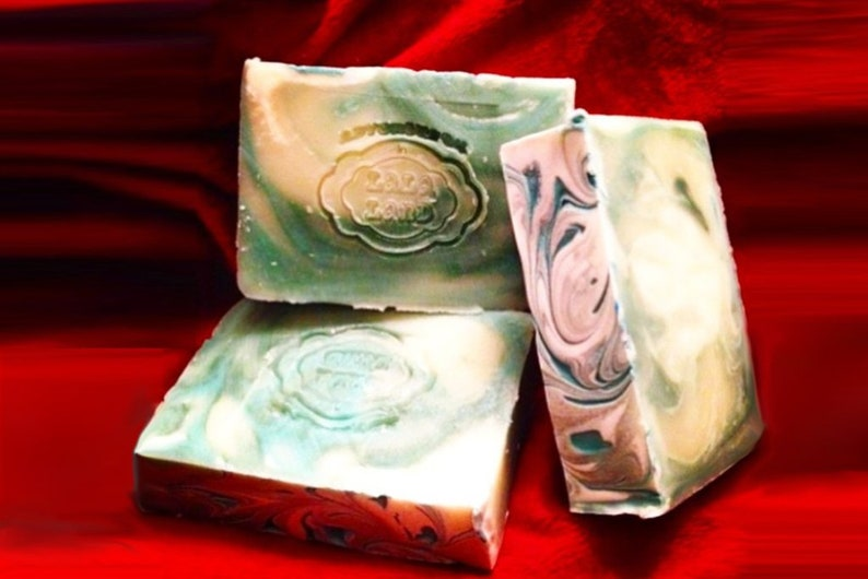 Swirly Patchouli  Handcrafted Vegan Bar Soap image 0