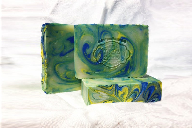 Vetiver Grass  Earthy  Musk  Handcrafted Vegan Bar Soap image 0