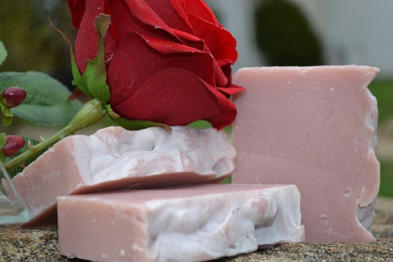 Stop and Smell the Roses  Handcrafted Vegan Bar Soap image 0