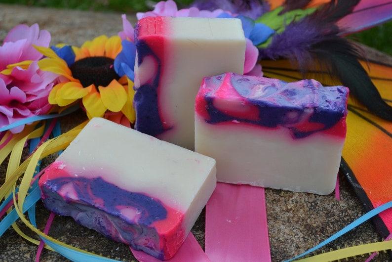 Mardi Gras  Handcrafted Vegan Bar Soap image 0
