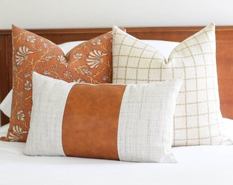 Orange pillow covers, Pillows