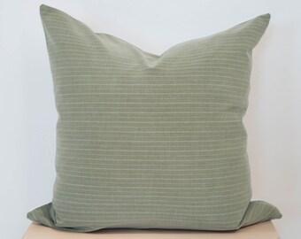9cc880bab20 Olive Green Striped Pillow Cover, Christmas Throw Pillow, Christmas Home  Decor, living room throw pillows, Stripe pillow cover