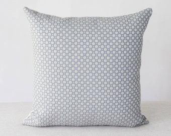 Blue and Cream Abstract Pillow Cover 20x20 Throw Pillow   Etsy