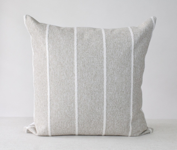 Grey and White Pillow Cover 20x20