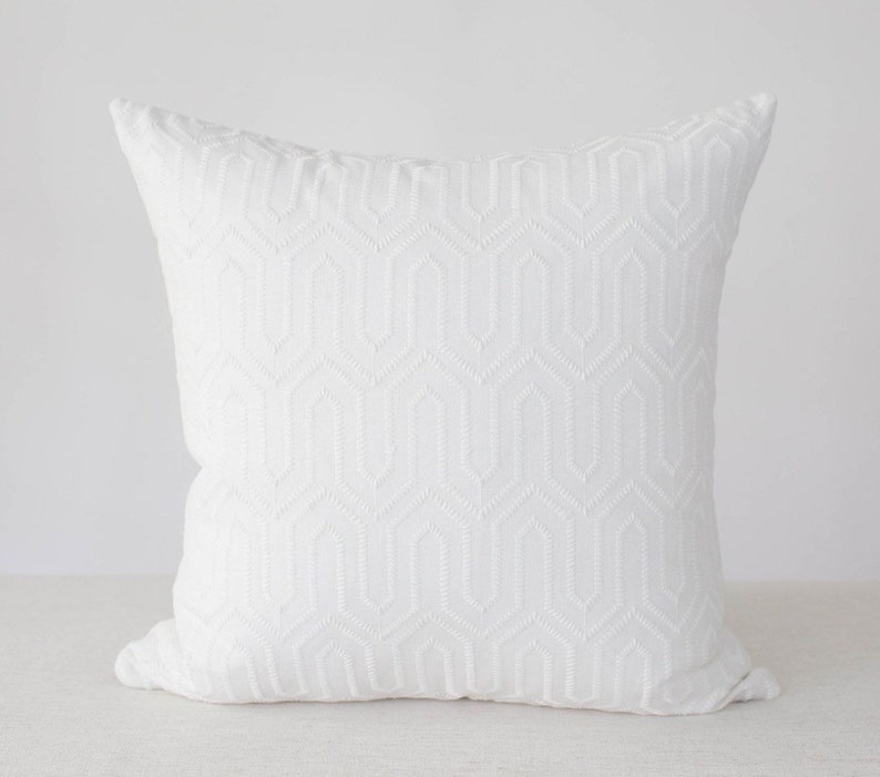 White Textured Pillow Cover 20x20 pillow cover Pillow Cover image 0