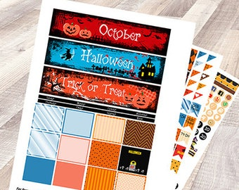 Halloween Monthly planner kit
