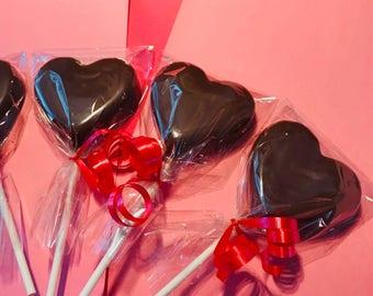Chocolate Heart Pops