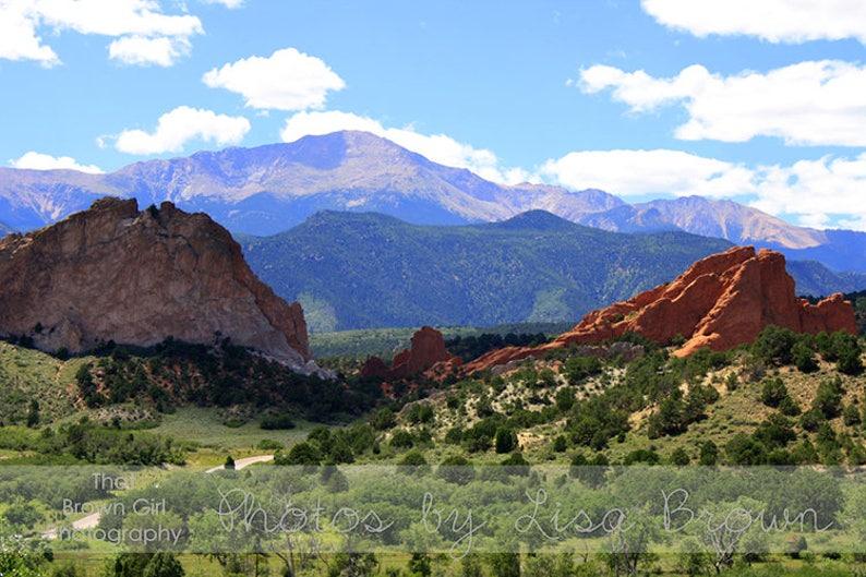 Pikes Peak and Garden of the Gods, Colorado Springs Colorado