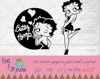 Betty Boop SVG; Cricut Cut files; SVG; Shirt SVG
