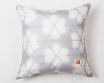 Natural plant dyed  hand woven silk pillow cover