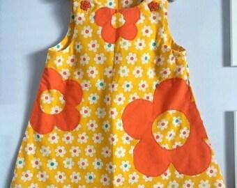 Retro Handmade Vintage Baby Girls Dress