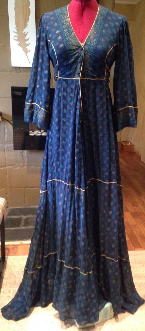 Stunning Ayesha Davar Indian Gauze Maxi Dress Boho