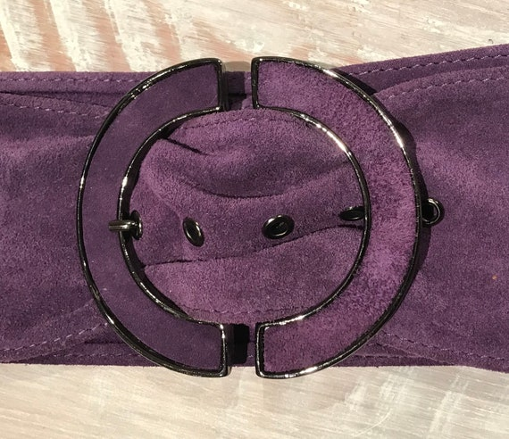 70s/80s Suede Boho Purple Belt