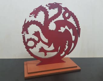 Game of Thrones Gift, Desk Accessories, 3 Dragons House Targaryen Sigil, Decorations, Gift for him, Gift for her, Christmas Gift.
