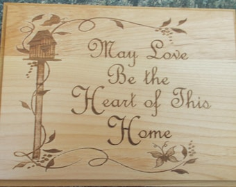 Heart of the Home Laser engraved Plaque