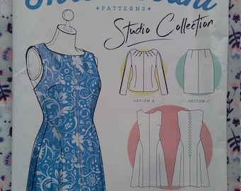 Sizes 16-24 New Threadcount Pattern 1501 Beginner/'s Dress with Colour Blocks