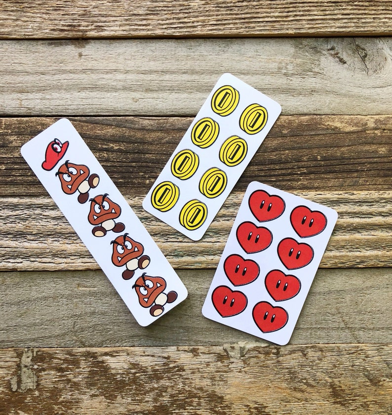 Mario sticker pack-Retro Coin Hearts and Gumba stickers