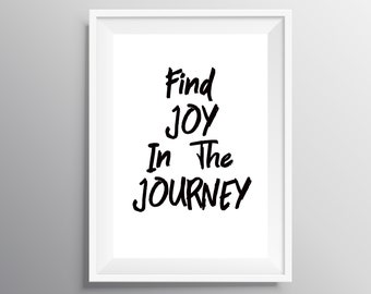 Find Joy In The Ordinary Printable Wall Art Inspiring Etsy