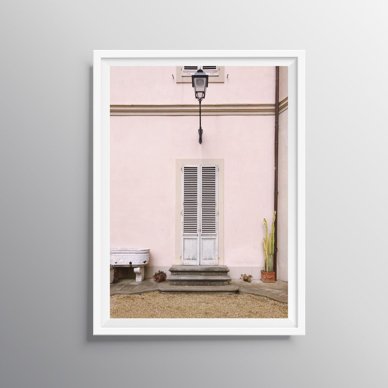 7356f045ac Pink Building Print, Door Photo, Fine Art Photography, Pink Architecture  Print, Blush Pink House, Pastel Door, Boho Photography Print