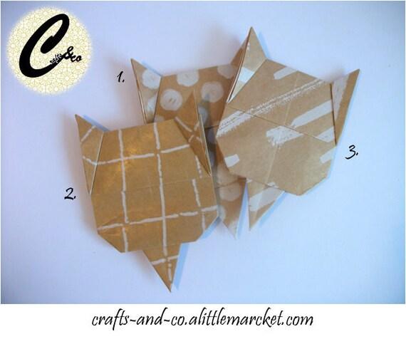 Origami Corner Cat Bookmark Etsy