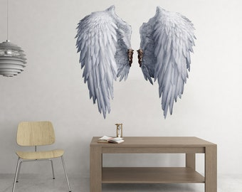 Details about  /Heart Angel Wings Love Bedroom Living Room Dining Decal Wall Art Sticker Picture