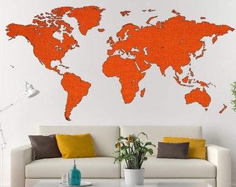 World Map Decal Framed World Map Vinyl Stiker Art Print Decal Map Of World  Prints Office Wall Decals Home Decor World Map Poster Wall Murals