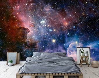 Space Wall Mural Etsy
