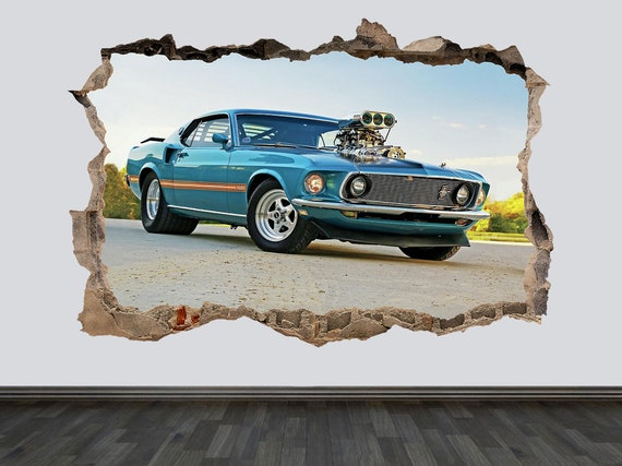 Ford Mustang 1965 Wall Art Decal graphic Sticker American Muscle Retro Classic