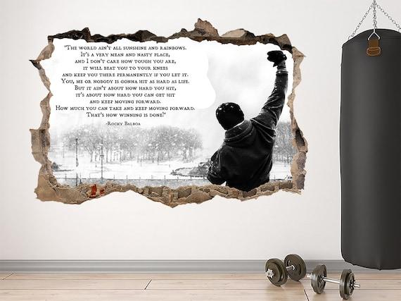 Rocky Balboa Quote Italian Stallion Gym Sofa Cushion Cover Shopping Tote Bag