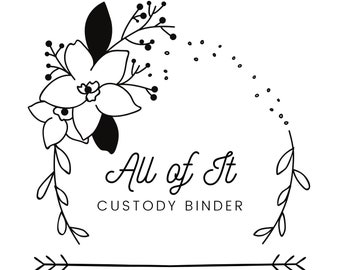Custody Expense Trackers Only - All of It Custody Binder Printables