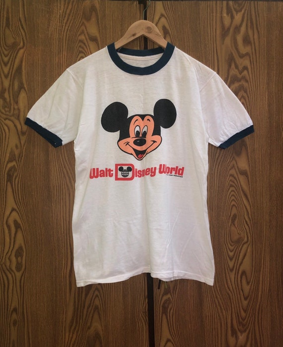 Rare Vintage 80s Mickey Mouse Ringer Tshirts