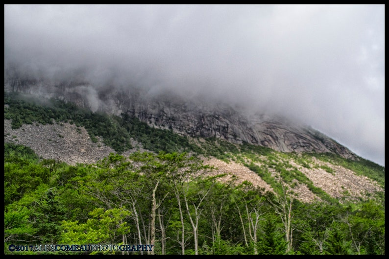 Clouds over Cannon  Mountains Art New Hampshire image 0