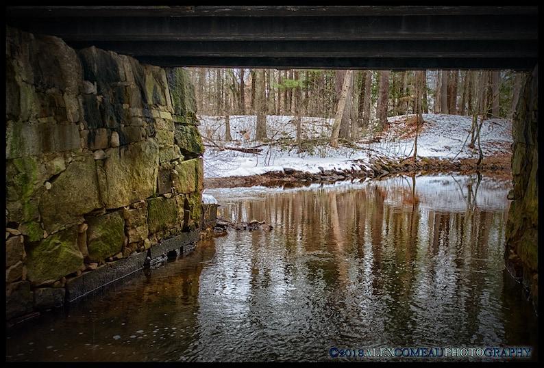 The Path Below  Water River Lake Art New Hampshire image 0