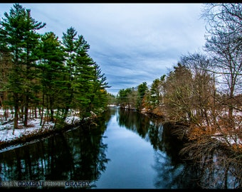 Downstream - Ice, Winter, Snow, Forest, Woods, Art, New Hampshire, Photography, Photograph, Photo, Canvas, Frame, Picture, New England