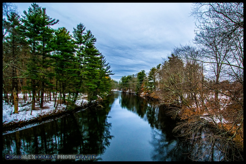Downstream  Ice Winter Snow Forest Woods Art New image 0