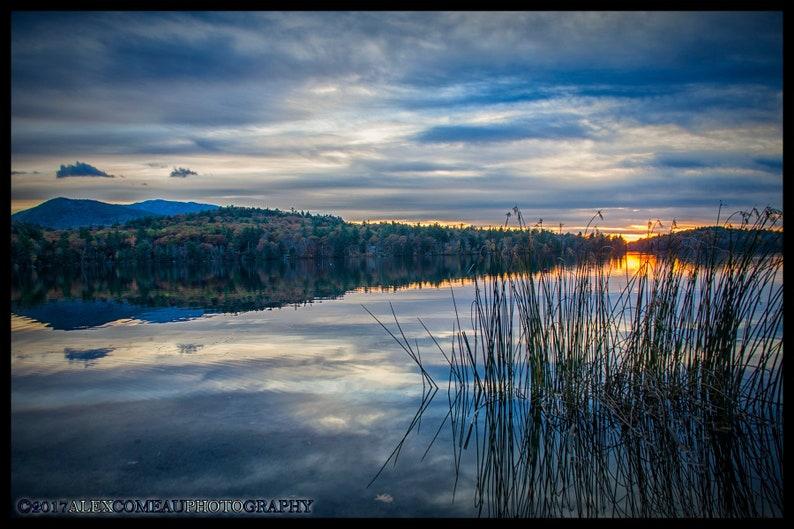 Dublin Reeds  Water River Lakes Art New Hampshire image 0