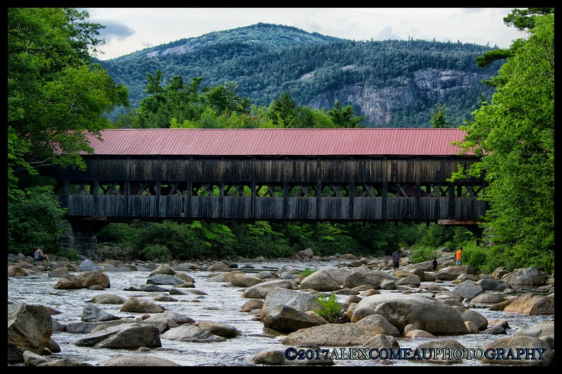 Albany Covered Bridge  Mountains Art New Hampshire image 0