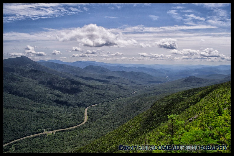 View From Above  Mountains Art New Hampshire Photography image 0