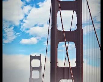 Golden Gate - City, Cityscape, Bridge, Golden Gate, Art, New Hampshire, Photography, Photograph, Photo, Canvas, Frame, Picture, New England