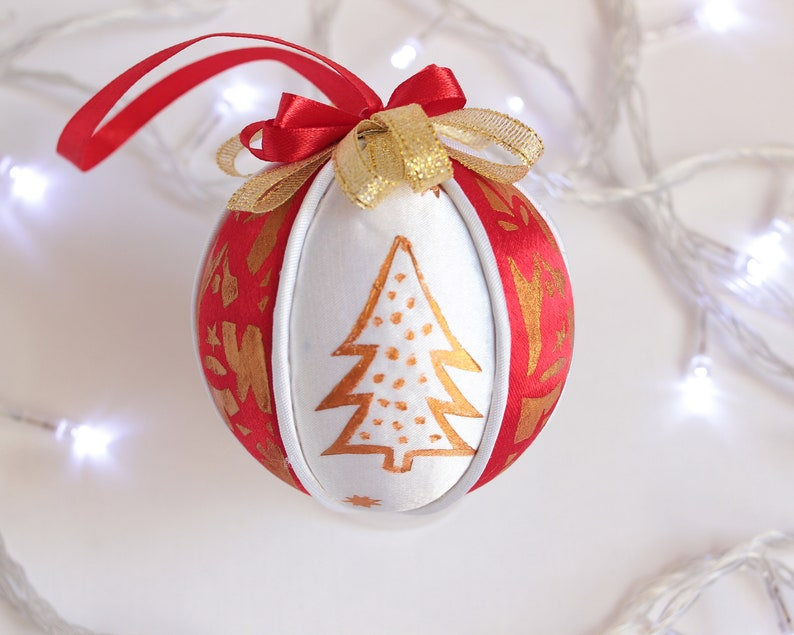 Christmas In July Christmas Ornaments Fabric Christmas Baubles Tree Toy New Year Gifts Christmas Tree Ball