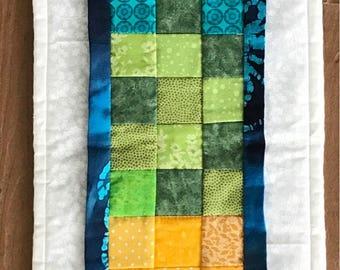 Chakra Wall Hanging: art quilt, fiber art, art,  quilt hanging, wall art, wall hanging, yoga room wall art