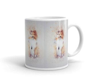 Collie, Sheltie, Pet Dog Puppy Coffee Mug