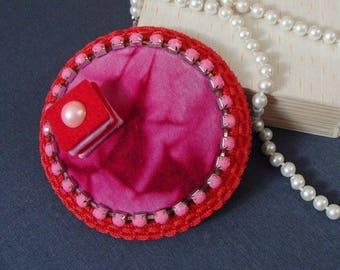 fascinator - pink cookie