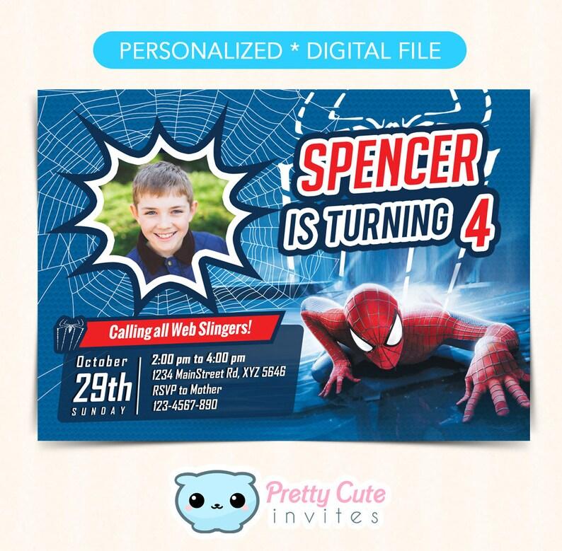 Spiderman Invitation Spider Man Invite Spiderman Birthday Invitation Spiderman Party Invite Superhero Invitation