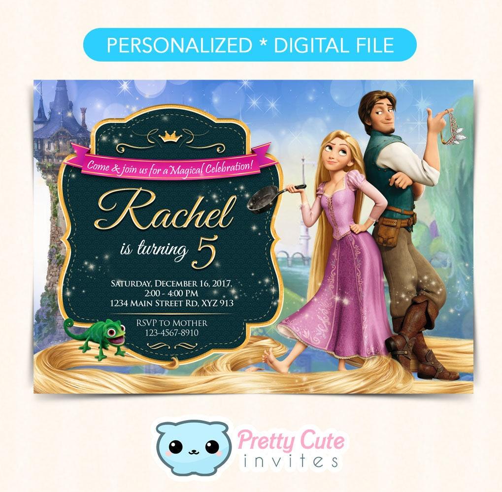 Tangled Invitation Rapunzel Birthday