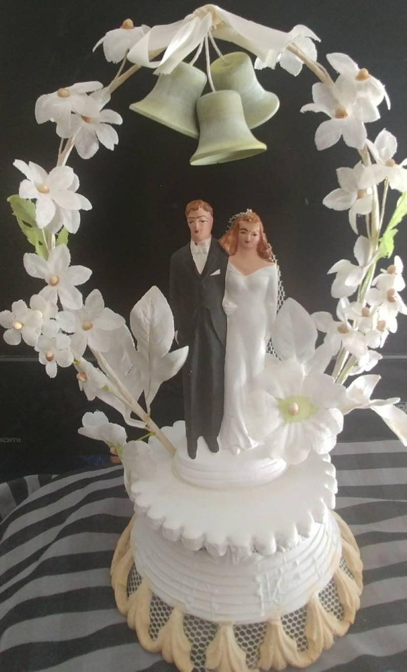 1940 S Vintage Wedding Cake Topper